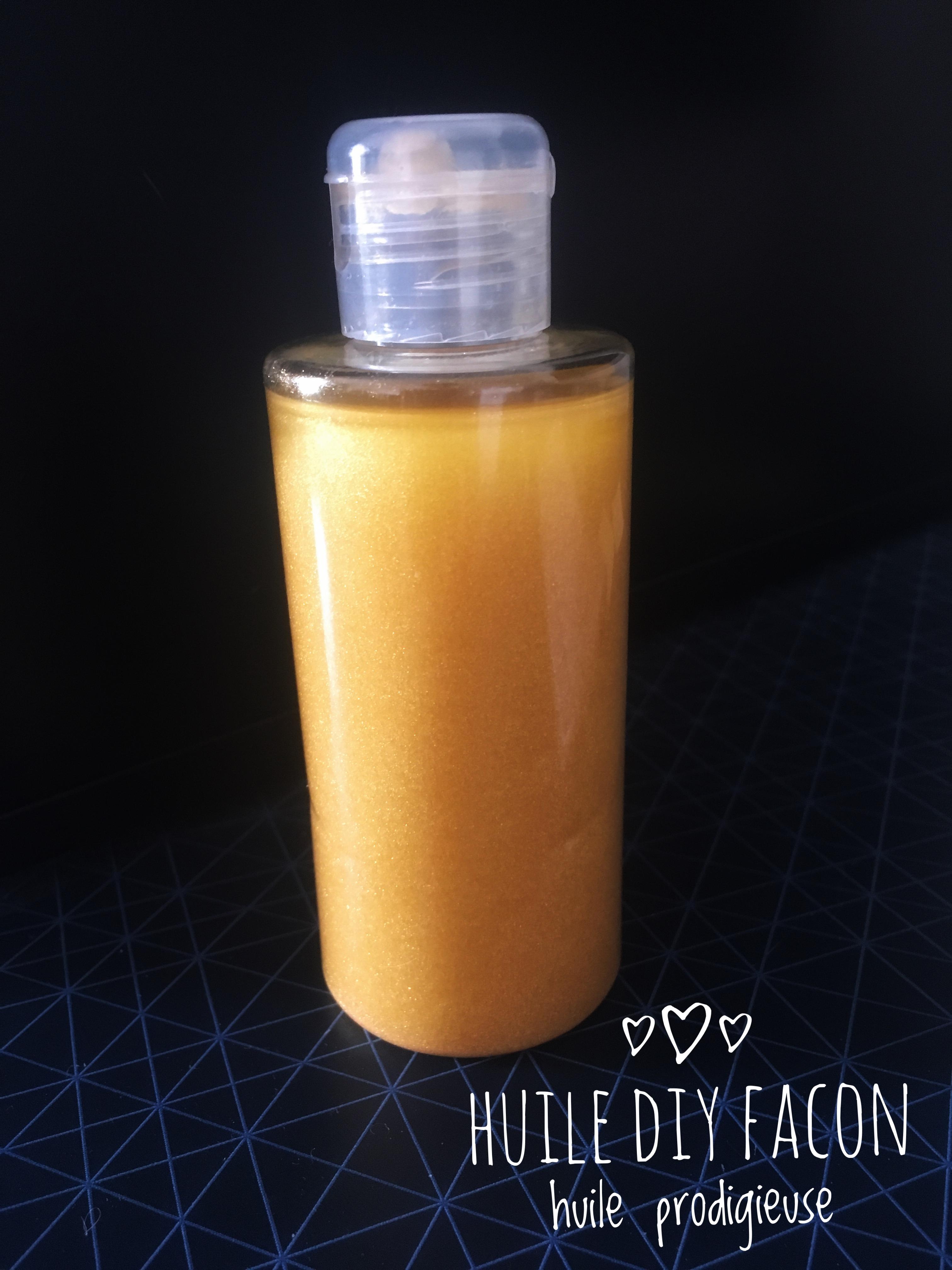 huile paillette